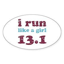 i run like a girl 13.1 Decal