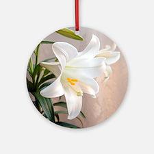Easter Lily Keepsake (Round)