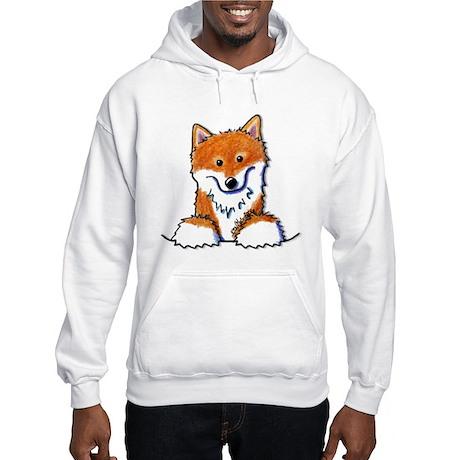 Pocket Shiba Inu Hooded Sweatshirt