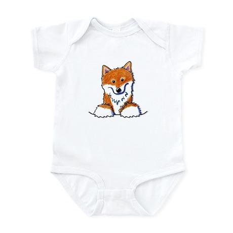 Pocket Shiba Inu Infant Creeper