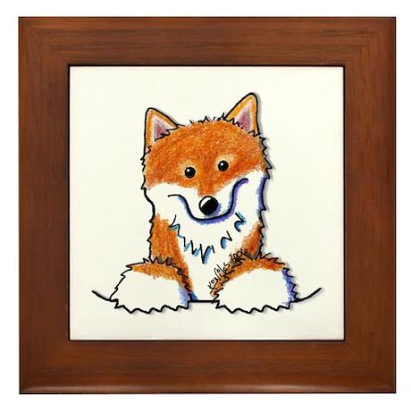 Pocket Shiba Inu Framed Tile