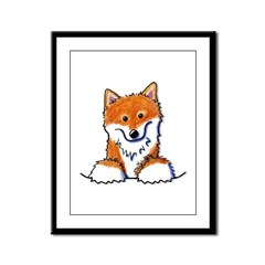Pocket Shiba Inu Framed Panel Print