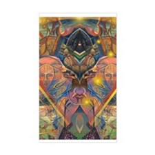African Mysticism Rectangle Decal