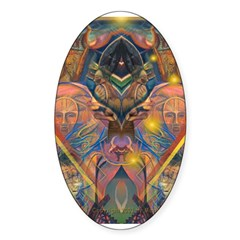 African Mysticism Oval Decal