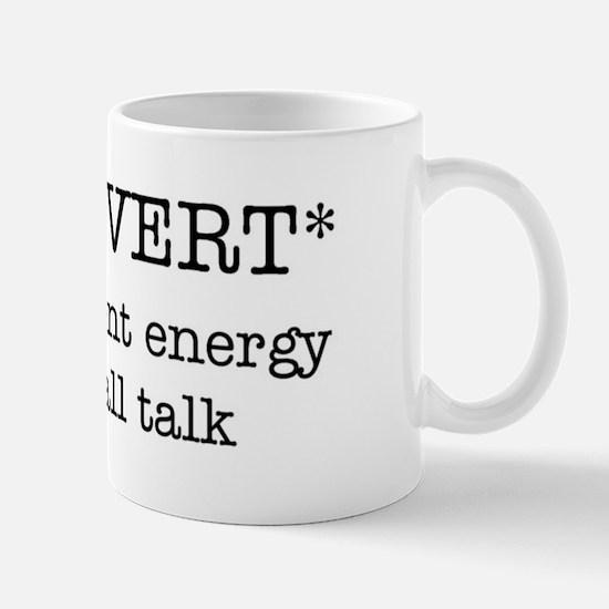 INTROVERT insufficient energy Mug