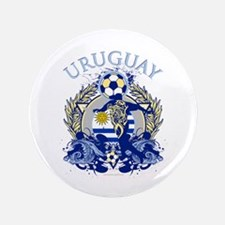 """Uruguay Soccer 3.5"""" Button (100 pack)"""