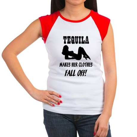 Tequila Makes Her Clothes Fal Women's Cap Sleeve T
