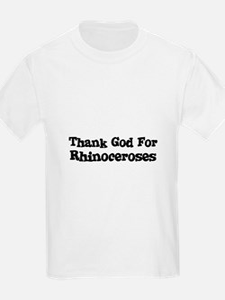 Thank God For Rhinoceroses Kids T-Shirt