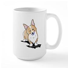 Fawn Curious Corgi Mug