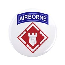 """20th Engineer Brigade 3.5"""" Button (100 pack)"""