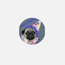 Cute Dog birthday Mini Button