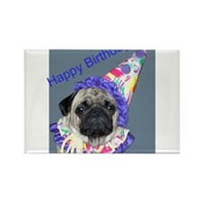 Cute Pug Rectangle Magnet (10 pack)
