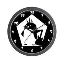 Rebel Penguin Wall Clock