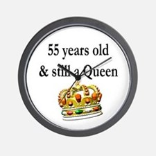 55 YR OLD QUEEN Wall Clock