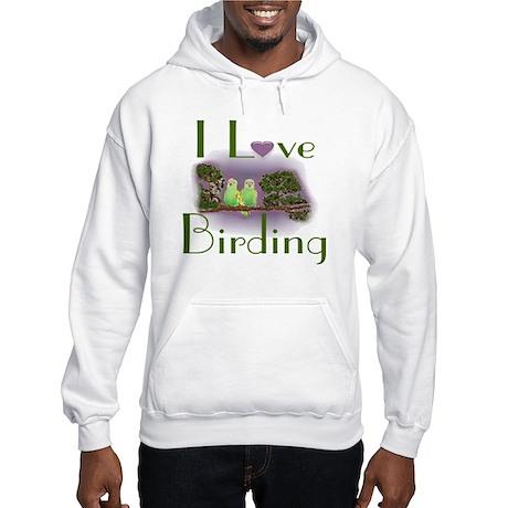 I Love Birding Hooded Sweatshirt