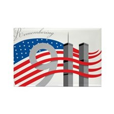 Remembering 911 Rectangle Magnet (100 pack)