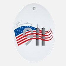 Remembering 911 Ornament (Oval)
