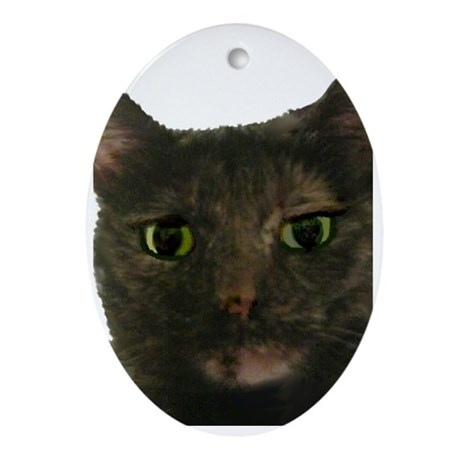CAT FACE Ornament (Oval)