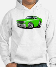 1970-74 Duster Lime-White Car Hoodie