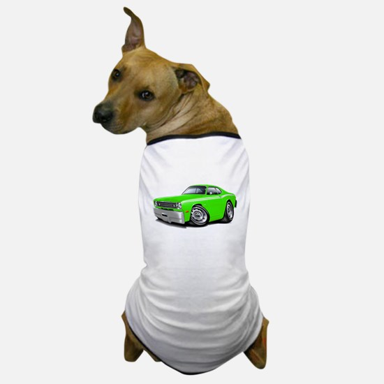 1970-74 Duster Lime-White Car Dog T-Shirt