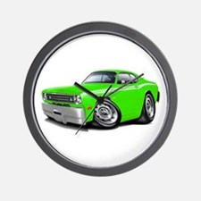 1970-74 Duster Lime-White Car Wall Clock