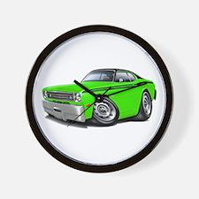 Duster Lime-Black Car Wall Clock