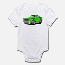 Duster Lime-Black Car Infant Bodysuit