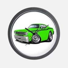 Duster Lime-Black Car Wall Clock