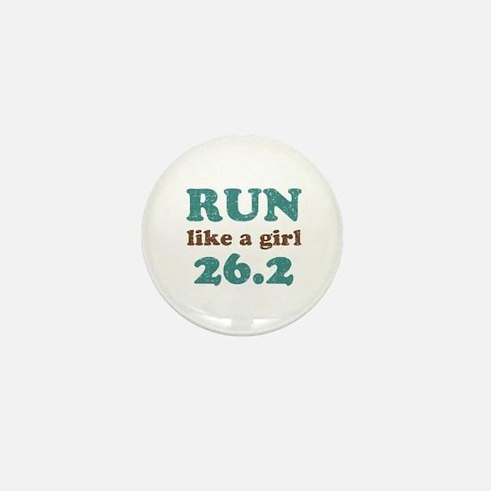 Run like a girl 26.2 Mini Button