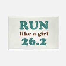 Run like a girl 26.2 Rectangle Magnet