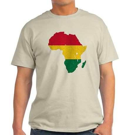 Africa Flag Textured Light T-Shirt