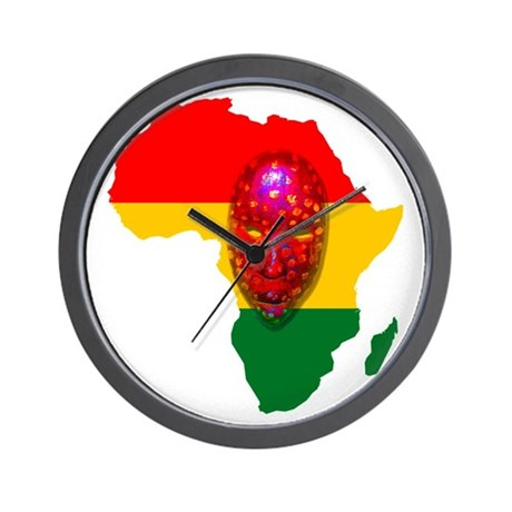 Africa with Mask Wall Clock