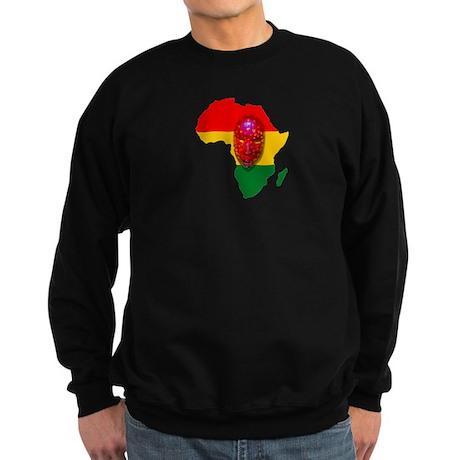 Africa with Mask Sweatshirt (dark)