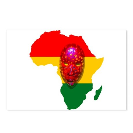 Africa with Mask Postcards (Package of 8)