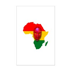 Africa with Mask Posters