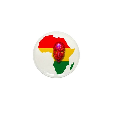 Africa with Mask Mini Button (10 pack)