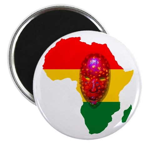 Africa with Mask Magnet