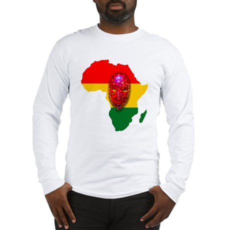 Africa with Mask Long Sleeve T-Shirt