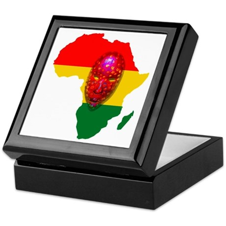 Africa with Mask Keepsake Box