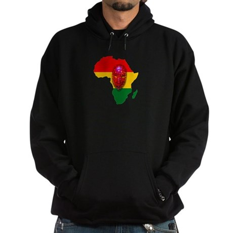 Africa with Mask Hoodie (dark)