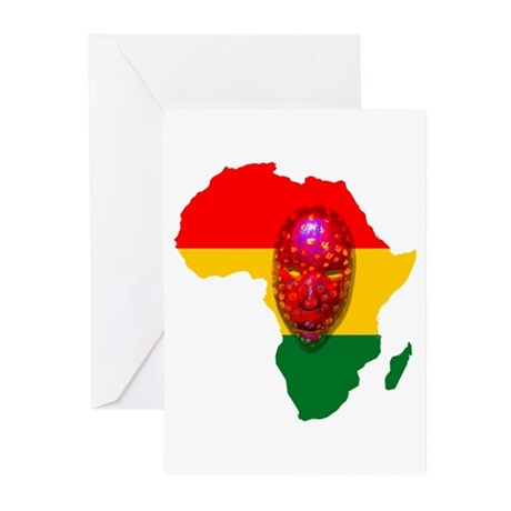 Africa with Mask Greeting Cards (Pk of 10)