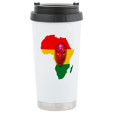 Africa with Mask Stainless Steel Travel Mug