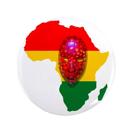 "Africa with Mask 3.5"" Button (100 pack)"