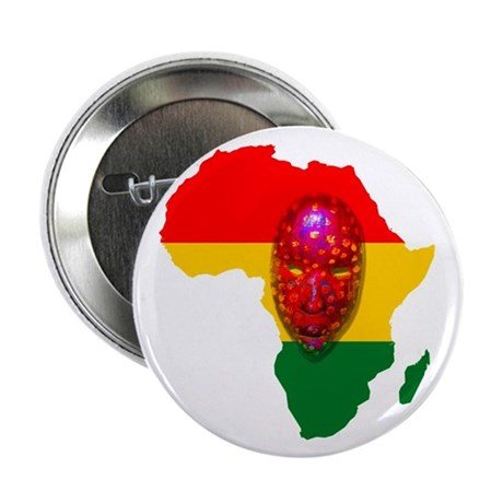 "Africa with Mask 2.25"" Button (10 pack)"