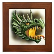 Roaring Dragon Framed Tile