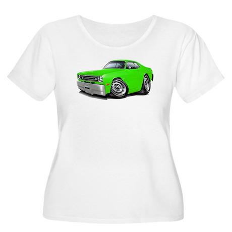 1970-74 Duster Lime Car Women's Plus Size Scoop Ne
