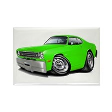 1970-74 Duster Lime Car Rectangle Magnet