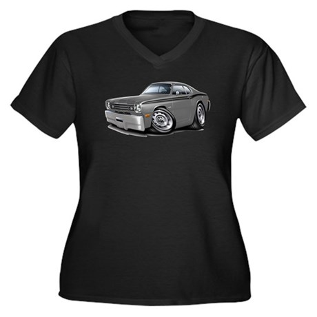 1970-74 Duster Grey-Black Car Women's Plus Size V-