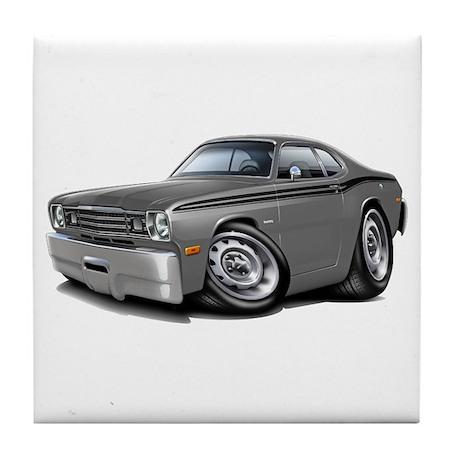 1970-74 Duster Grey-Black Car Tile Coaster
