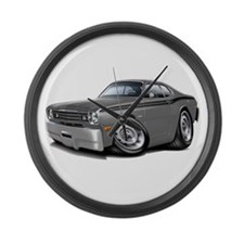 1970-74 Duster Grey-Black Car Large Wall Clock